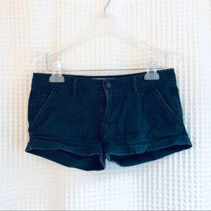 Abercrombie Navy Twill Shorts size 0